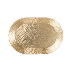 Hammered Oval 15x10in Serving Platter Aluminum and Gold Finish ($15) ❤ liked on Polyvore featuring home, kitchen & dining, serveware, bright gold, oval tray, oval serving tray, serving platters, aluminum serving platters and oval serving dish