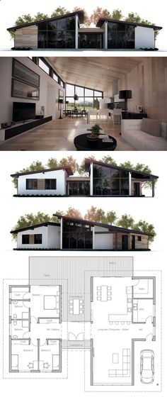 Container Homes Plans - Container House - Four container home - plan de maison simple