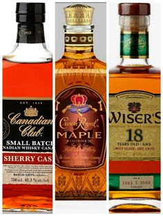 The best and most famous whiskies produced in Canada distilleries.