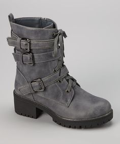 Look what I found on #zulily! Gray Ivanka Boot by Bumper #zulilyfinds