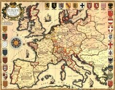 Map of Europe in 1500.