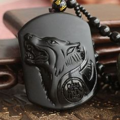 The wolf symbolizes sharp intelligence, fierce companionship, and strong animal instincts. With this pendant necklace combo you can keep the power of the wolf close to your heart. Crafted beautifully
