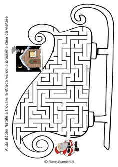 Christmas Maze: Help Santa through the sleigh maze to find the next house Christmas Maze, Christmas Colors, Christmas Crafts For Kids, Christmas Activities, Christmas Printables, Colouring Pages, Coloring Books, Mazes For Kids, Winter Crafts For Kids