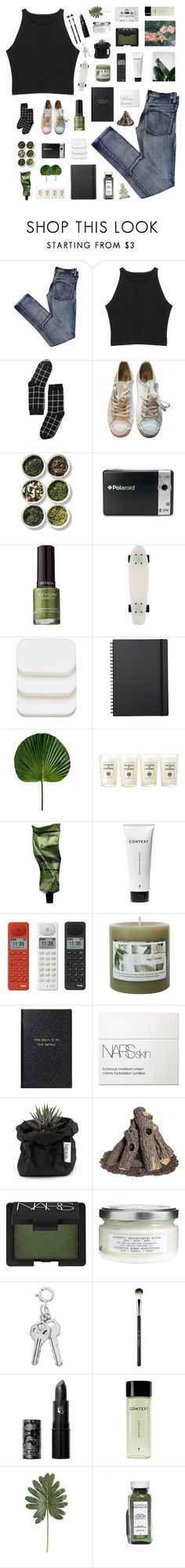 """""""i highly hope you don't ever lie to me"""" by junglex ❤ liked on Polyvore featuring Cheap Monday, Monki, Maison Margiela, Tea Collection, Polaroid, Revlon, COVERGIRL, Muji, Acqua di Parma and Aesop"""