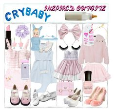 """""""◇Crybaby Inspired Outfits◇"""" by creepymusicnews ❤ liked on Polyvore featuring River Island, Luella, Monsoon, LILI GAUFRETTE, Deborah Lippmann, Topshop and Valfré"""
