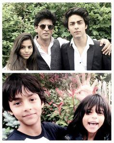 Bollywood father day Shahrukh Khan with Aryan, Suhana and Abram