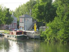 Fairport, NY from bridge over Erie Canal