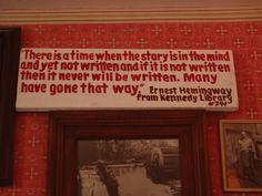 Hemingway on writing.