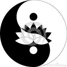 Lotus-bloem in Yin Yang-zwart-wit symbool Ying Yang, Arte Yin Yang, Yin Yang Art, Caveira Mexicana Tattoo, Yin Yang Tattoos, Stencil Decor, Psychedelic Drawings, Silhouette Clip Art, Buddha Art