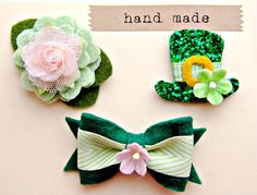 st. patty's day hair clips