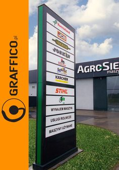 Signage manufacturer, illuminated signage, signs assembly, montaż produkcja reklam, producent reklam, Graffico, pylon signage, 3D  signs, freestanding signs, channel letters, illuminated letters, illuminated pylons, pylony reklamowe, litery 3D, reklama świetlna, branding, company identification, directory signs,