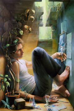 Mythical Fairies   ... People, Drawings, Boys & Men, Mythology, Fairies, by Michael Zancan