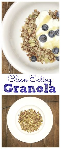 This is my favorite granola. Its full of nuts and lasts about a week. Super easy to make, too.