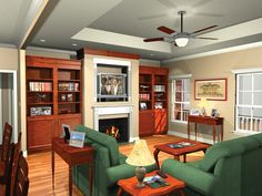Cool living room picture of plan HPG-1751-1 from http://www.houseplangallery.com/index_files/house-plans-prod_detail.php?planid=HPG-1751-1