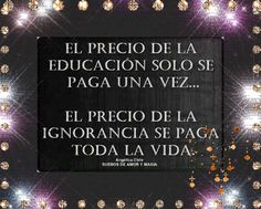 SUEÑOS DE AMOR Y MAGIA: El precio de la educación