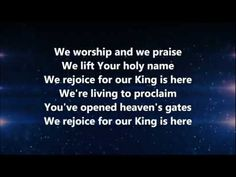The King is Here - Kim Walker-Smith w/ Lyrics - ((YouTube)) ~ AWESOME + POWERFUL!!!