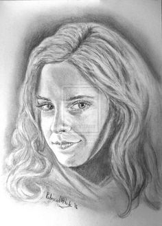Emma Watson as Hermione - Drawing by Rebecca M Hock Colour-My-Heart.deviantart.com on @DeviantArt