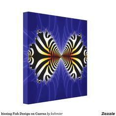 kissing Fish Design on Canvas 65% off