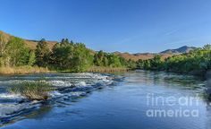 Looking Down The Payette River: See more images at http://robert-bales.artistwebsites.com/