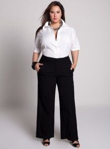 Plus size business casual pants