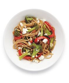 Pasta with feta and broccoli - a friend made this with quinoa pasta and left out the feta---so delicious!