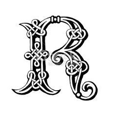 Celtic Floral Letter R | Celtic Letter Royalty Free Stock Pictures