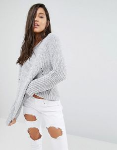 Missguided | Missguided – Pullover aus Chenille-Grobstrick