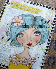 Wood And Fabric: Trois pages d'art journal!