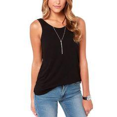 55e20078ece 2017 Women T Shirts Sexy Halter Deep V Back Vest Slim Stretch Round Neck  Tshirts Sleeveless Camisole Plus Size Club Clothes