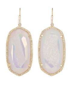 Gorgeous. Kendra Scott Luxe - Large Pave-Trim Druzy Drop Earrings