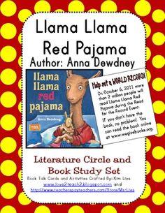 I love Llama Llama books by Anna Dewdney. Here is a literature circle set.