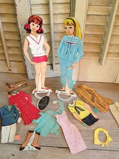 Vitnage Paper Dolls Paper Doll Vintage Toy Toys by TheCookieClutch on Etsy, $32.00