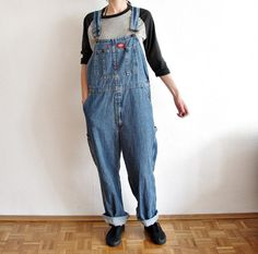 CLICK HERE TO BUY! https://www.etsy.com/listing/207089990/90s-dickies-denim-overalls-jeans-bib?ref=shop_home_active_10