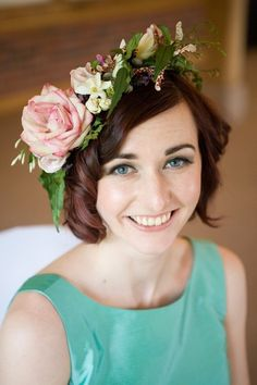 Romantic rose and jasmine flower crown