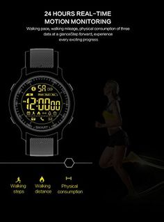 TKSTAR-EX18 Sports Watch 50M Waterproof Businessmen Steel Belt Smart Watch with 12 Months Long Battery Life Call&SMS Alert Steps Counting Remote Camera Birthday Father Gifts-JU-EX18 (Steel, Silver) 61.99  #AlarmTypeRing #BT #CompatibilityAndroid #IOS #JU-EX18 #NotificationsTypeFacebook #ProductTypeSmartWatch...