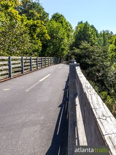 Top places to run and bike in Atlanta: the Silver Comet Trail crosses towering train trestles and catches beautiful views on over 60 miles of trail
