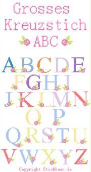 Großes Kreuzstich-ABC