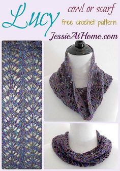 Lucy Chevron Cowl or Scarf ~ free crochet pattern by Jessie At Home