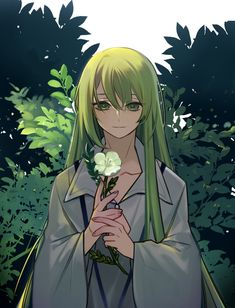 Enkidu Fate Cute Anime Boy, Anime Art Girl, Fate Stay Night, Anime People, Anime Guys, Anime Green Hair, Gilgamesh And Enkidu, Character Art, Character Design