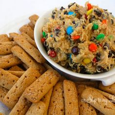 Monster Cookie Dough Dip  I had this last night at a Pinterest party and it was wonderful!