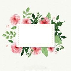64 Ideas For Flowers Vintage Drawing Sweets Borders And Frames, Floral Border, Flower Frame, Watercolor Flowers, Drawing Flowers, Iphone Wallpaper, Decoupage, Diy And Crafts, Web Design