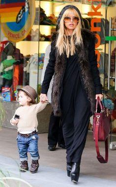 Hot Mama rachel zoe with adorbs son skyler #cuteboy #stylish #boyoutfits
