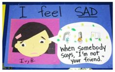 FEELINGS Display Idea for Kindergarten! I thought I would share this idea. the display received a lot of compliments from parents and teachers. Feelings Preschool, All About Me Preschool, Preschool Lessons, Kindergarten Activities, Teaching Emotions, Kindergarten Reading, Preschool Learning, Classroom Charts, Eyfs Classroom