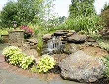 Naturalistic Waterfall Ohio Landscaping Rice's Nursery & Landscaping North Canton, OH