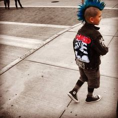 Parenting One Day: Punk rock kid wearing converse and a Mohawk