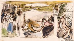 Kansallisgalleria - Taidekokoelmat - Aino-triptyykki, luonnos