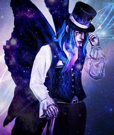 Cosmic Morpheus by Natalia Godik Fanart, Tv Show Music, Dark Disney, Character Creation, Character Illustration, Book Series, Alice In Wonderland, Book Worms, Amazing Art