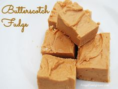 Two Ingredient Butterscotch Fudge, so good and so easy to make.