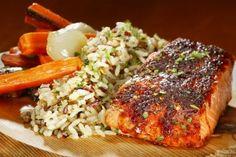 King's Fish House: Cedar Plank Salmon   <3