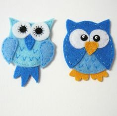 teeny felted owls for nephew
